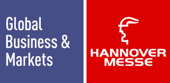 Logo Gobal Business & Markets + Hannover Messe