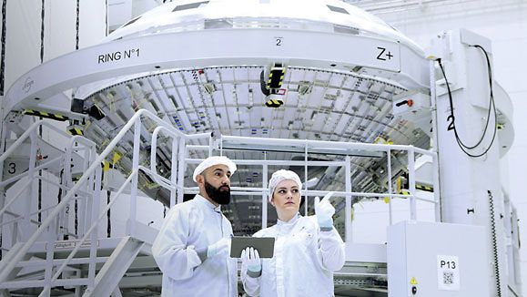 Rocket manufacturer ArianeGroup opened its new production facility, the Ariane Center, in Bremen.