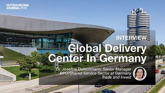 Cover: The Outsourcing Journal | Interview with Dr. Josefine Dutschmann, GTAI