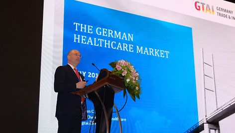 Dr. Marcus C. Schmidt, Director Chemicals & Healthcare, GTAI is presenting at China-German Healthcare Investment & Business Development Summit