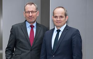 Executive Board of Germany Trade & Invest: Dr. Jürgen Friedrich (left) and Dr. Robert Hermann (right)