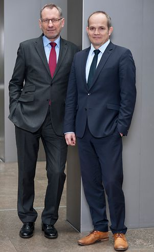 Executive Board of Germany Trade & Invest: Dr. Jürgen Friedrich (left) and Dr. Robert Hermanne (right)
