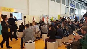 "Full house @ session ""Start-Ups in the hub"" powered by Messe Berlin & GTAI"