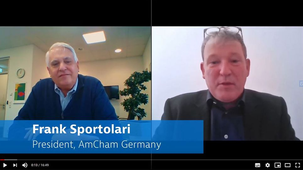 GTAI's Jefferson Chase in an interview with Frank Sportolari (President, AmCham Germany)