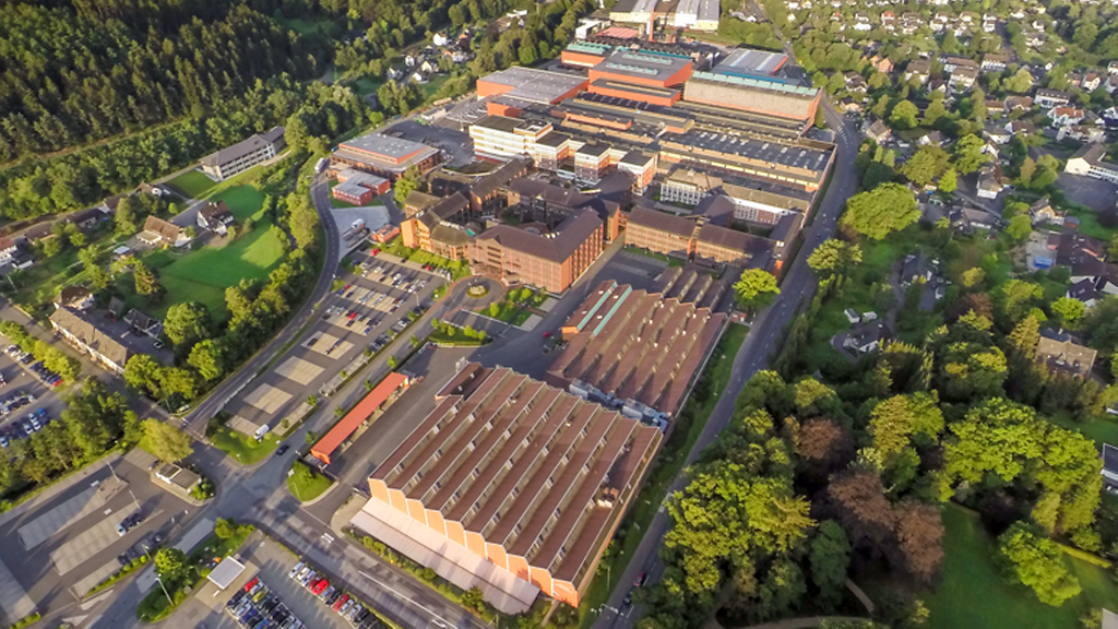 Aerial view of SMS group location in Hilchenbach – home of the planned Primobius demonstration plant.