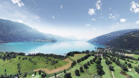 Interlaken is a city located in Bern Canton. The city is surrounding by lakes and mountains for a beautiful scenery.