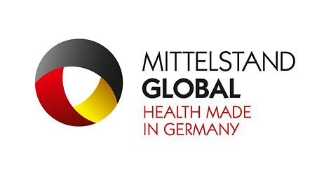 Logo: Mittelstqand Global - HEALTH MADE IN GERMANY