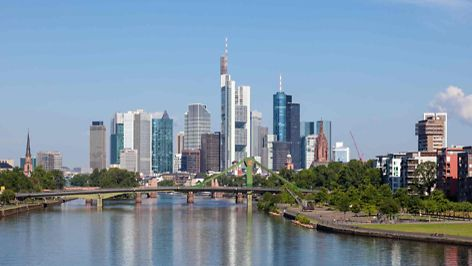 Skyline of Frankfurt Main, Hesse, Germany